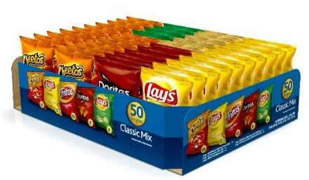 $11.7 Frito-Lay Classic Mix Variety Pack, 50 Count