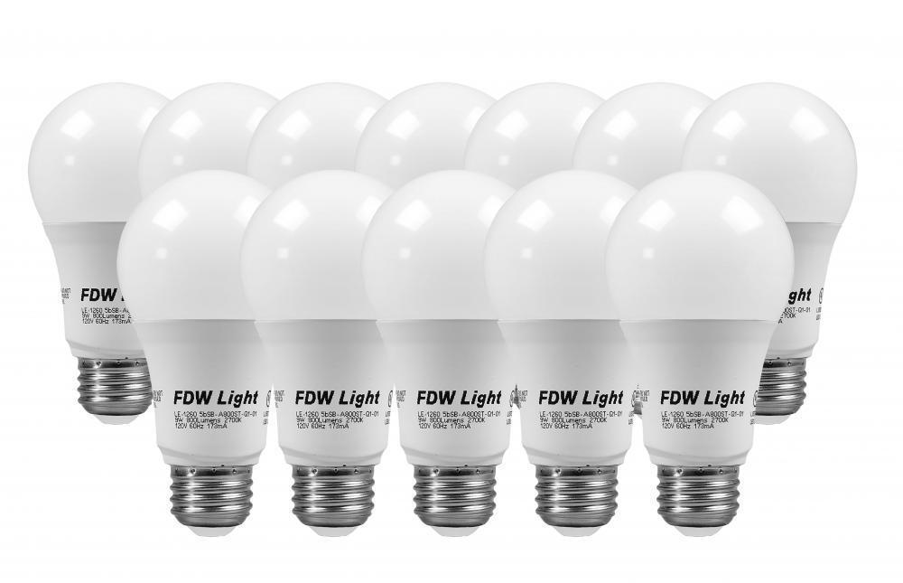 FDW 60W Equivalent Slim Style A19 LED Light Bulb