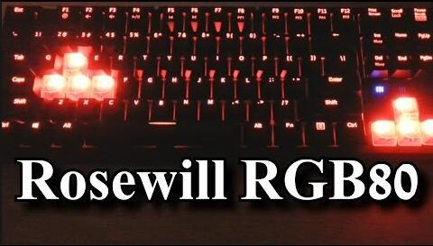$49.99 Rosewill RGB80 - 16.8 Million Color Illuminated Mechanical Gaming Keyboard