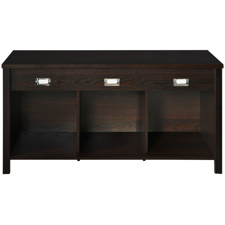 ClosetMaid Premium 3-Cube Bench Organizer, Black Walnut