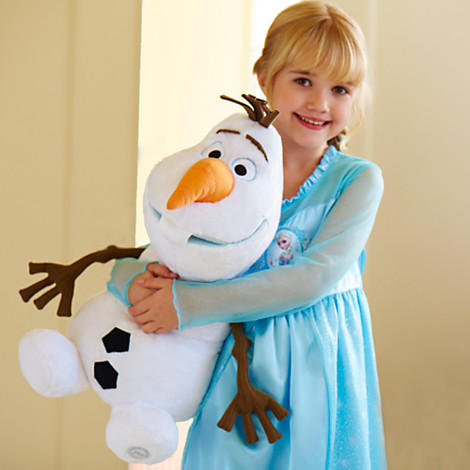 Disney Big Girls' Olaf Frozen Plush Backpack
