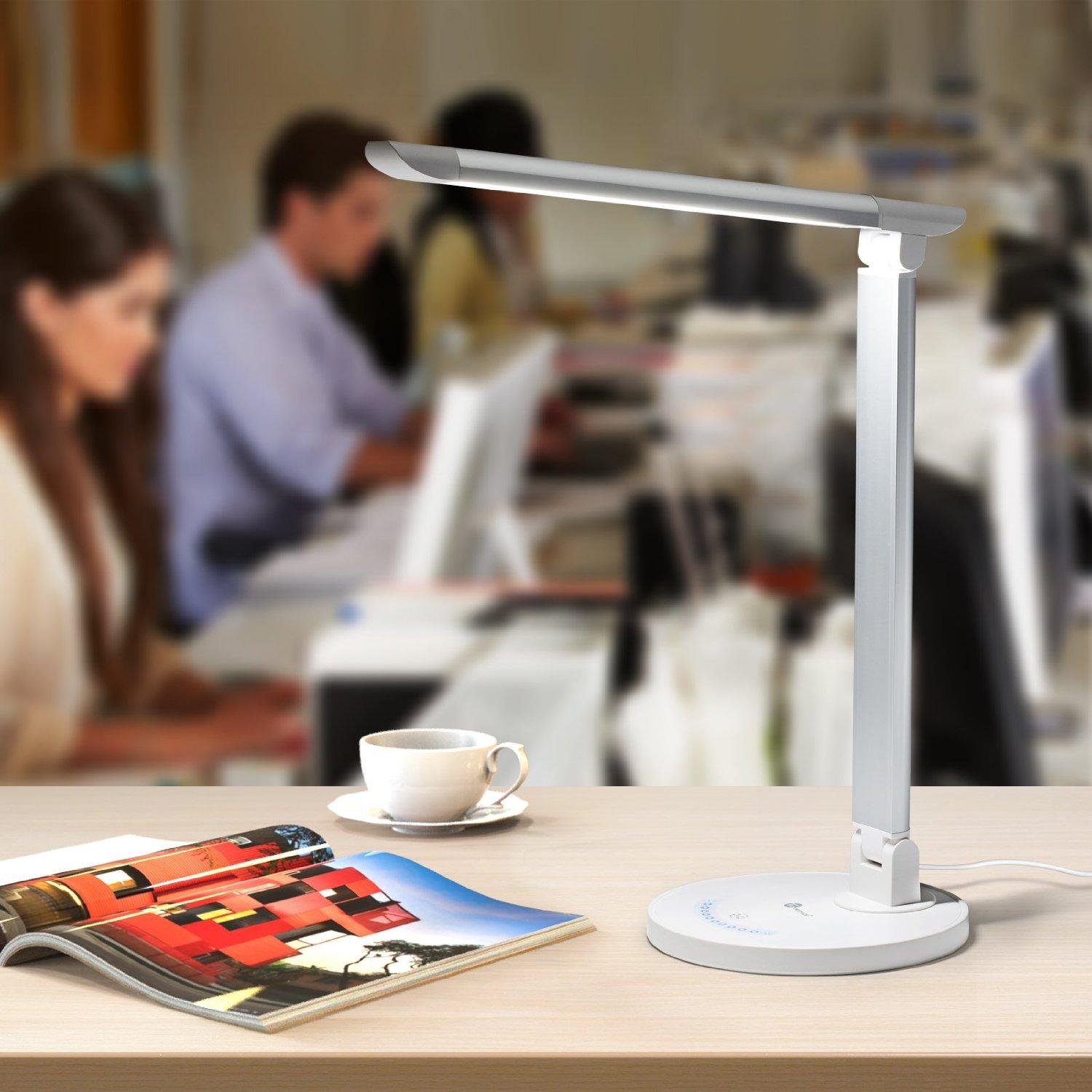 Lowest price! $29.99 TaoTronics Table Lamp Eye-caring LED Lamp