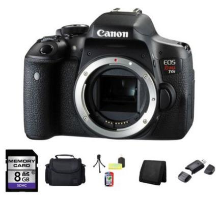 $499.00 Canon EOS Rebel T6i 750D Digital SLR Camera (Body) 0591C001 8GB Full Kit