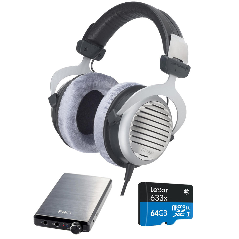 BeyerDynamic DT 990 Premium Headphones 32 OHM w/ FiiO E12 Pro Amplifier Bundle