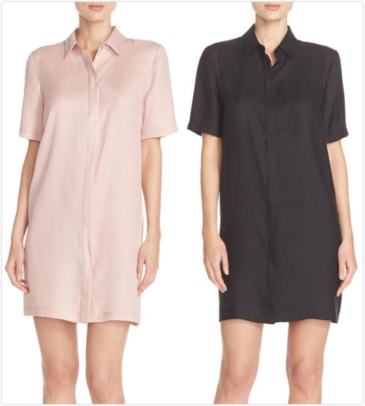 Charles Henry Short Sleeve Seersucker Shirtdress On Sale @ Nordstrom
