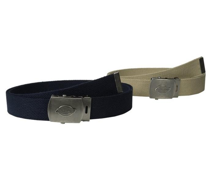 Dickies Men's Cotton Web Belt, Pack of Two
