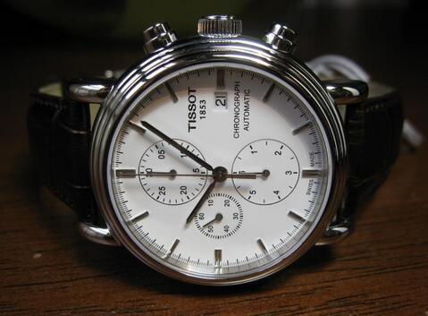 Tissot T-Classic Carson Chronograph Automatic Silver Dial Men's Watch TIST0684271601100
