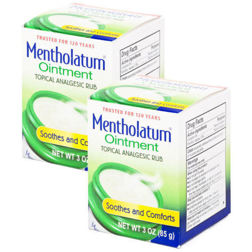 $10 2 Packs (total 6 oz.) of Mentholatum Ointment Topical Analgesic Rub.