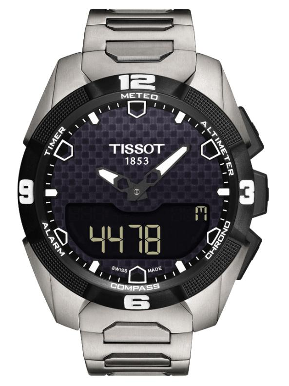 Tissot T-Touch Black Dial Stainless Steel Solar Men's Watch T0914204405100