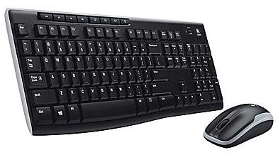 Logitech MK270 Full-Size Wireless Keyboard and Compact Mouse Combo