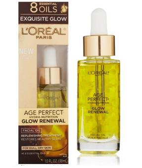 L'Oreal Paris Age Perfect Glow Renewal Facial Oil, 1.0 Fluid Ounce @ Amazon