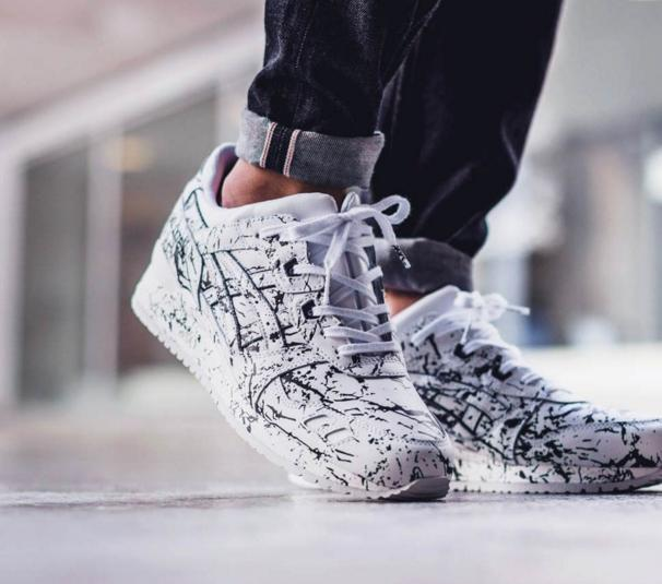 Asics Gel Lyte Iii White Paint Splash Sneakers