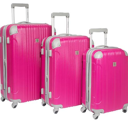 $99.99 Beverly Hills Country Club Newport 3 Piece Hardside Luggage