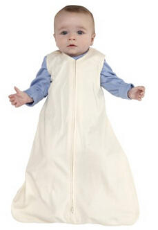 HALO SleepSack 100% Cotton Wearable Blanket, Cream, Small