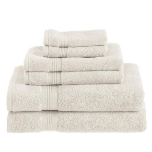 Pinzon 650-Gram Pima Cotton 6-Piece Towel Set - Ivory