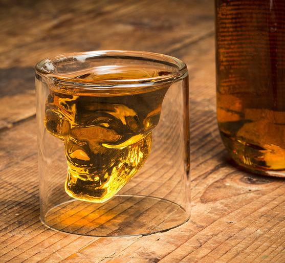 Fred & Friends DOOMED Crystal Skull Shotglass