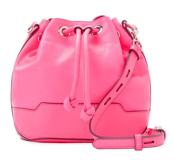 Rebecca Minkoff Fiona Mini Leather Bucket Bag