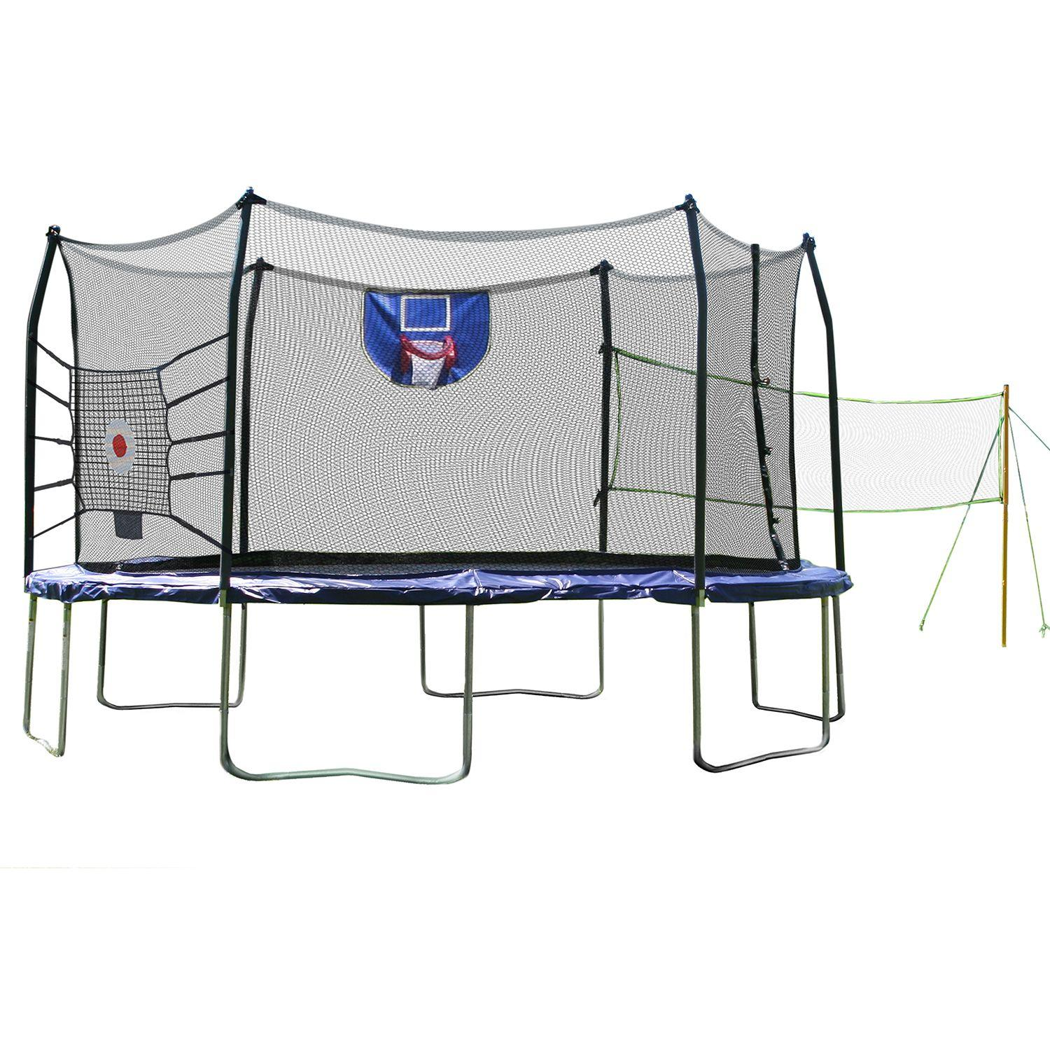 Skywalker Trampolines 15' Round Sports Arena Trampoline and Enclosure
