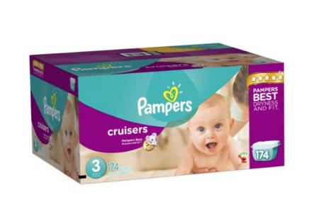 Prime only! Pampers Cruisers Diapers Economy Plus Pack, Size 3, 174 Count