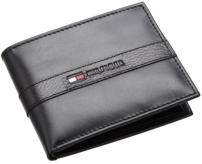 Tommy Hilfiger Men's Leather Ranger Passcase Wallet