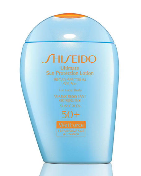 New Release Shiseido launched Ultimate Sun Protection Lotion Broad Spectrum SPF 50+ WetForce for Sensitive Skin & Children