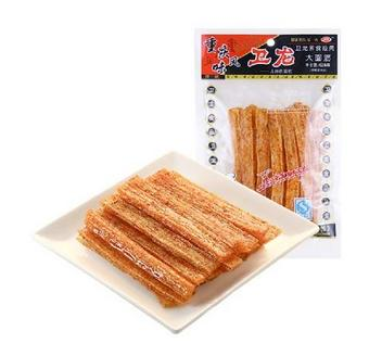 WEILONG Spicy Gluten La Tiao Chongqing Style 128g Famous Chinese Special Snack