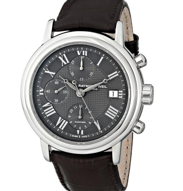 Lowest price! $1058.17 Raymond Weil Men's Maestro Analog Display Swiss Automatic Brown Watch