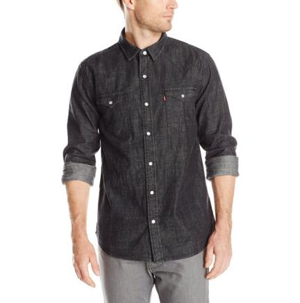 From Levi's Men's Standard Barstow Denim Western Snap-Up Shirt