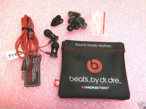 Beats by Dr. Dre Monster IBEATS Earbuds Headphones BLACK