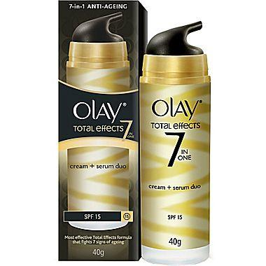 $22.99 3 Pk Olay Total Effects 7-in-1 Anti-Aging Fairness Cream SPF 15 Moisturizer 40g
