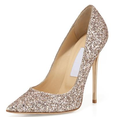 $125 Off with $500 Jimmy Choo Abel Glitter Pointed-Toe Pump purchase @ Neiman Marcus