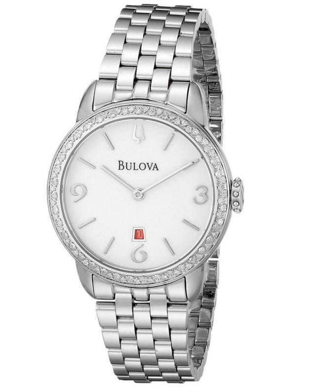 Bulova Women's 96R183 Analog Display Analog Quartz Silver Watch