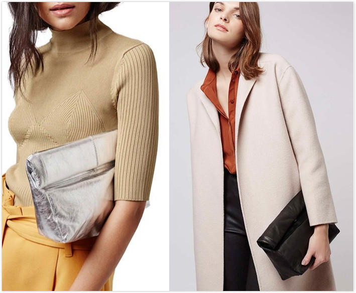 $29.98 Topshop Roll Top Leather Clutch On Sale @ Nordstrom