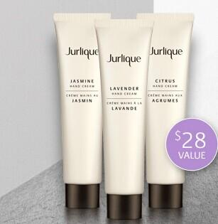 Free travel hand cream trio with your  order over $60