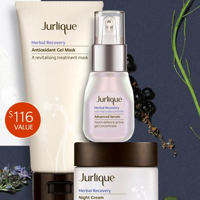 Free Herbal Recovery Trio ($116 Value) with Any Purchase of $165 @ Jurlique