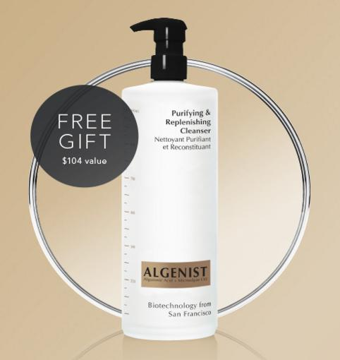 FREE Super Size Purifying & Replenishing Cleanser($104 value) with $100 Purchase @ algenist