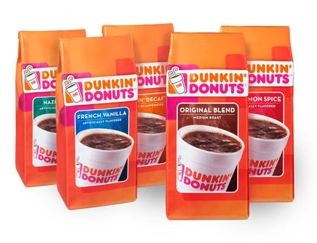 $53.91+$25 Gift Card 9 Packs of Select Dunkin' Donuts Coffees