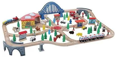 120-Piece Train Set