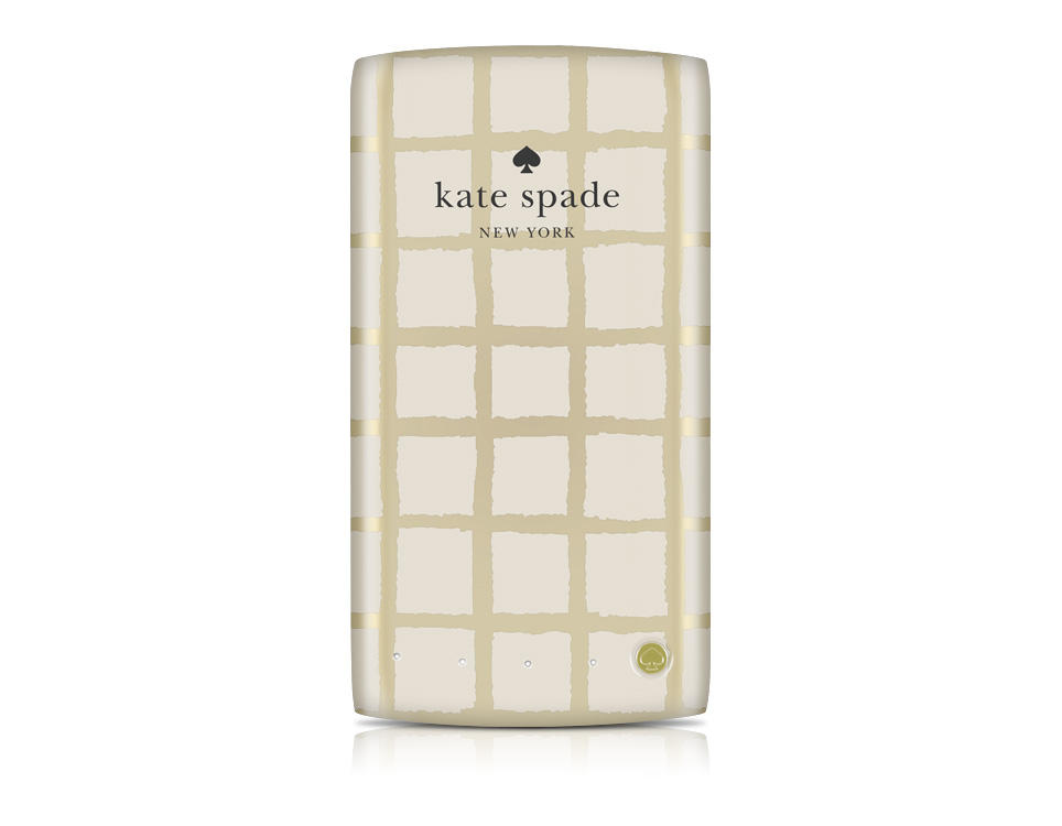 Kate Spade Gold/Cream Paintery Check Hybrid 4000 mAh Backup Battery