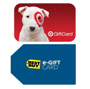 $50 Target Gift Card + $25 Best Buy Gift Card
