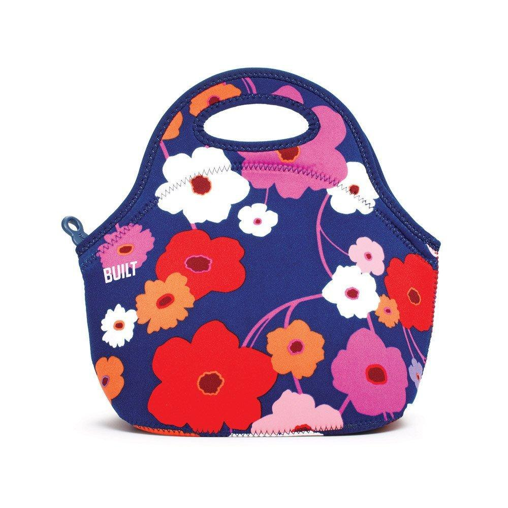 BUILT NY Gourmet Getaway Neoprene Lunch Tote, Lush Flower