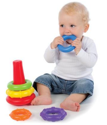 $5.4 Playgro Rainbow Color Rock 'n' Stack Toy for Baby @ Amazon