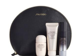 Get free gift set ($141 Value) with any $150 Shiseido purchase