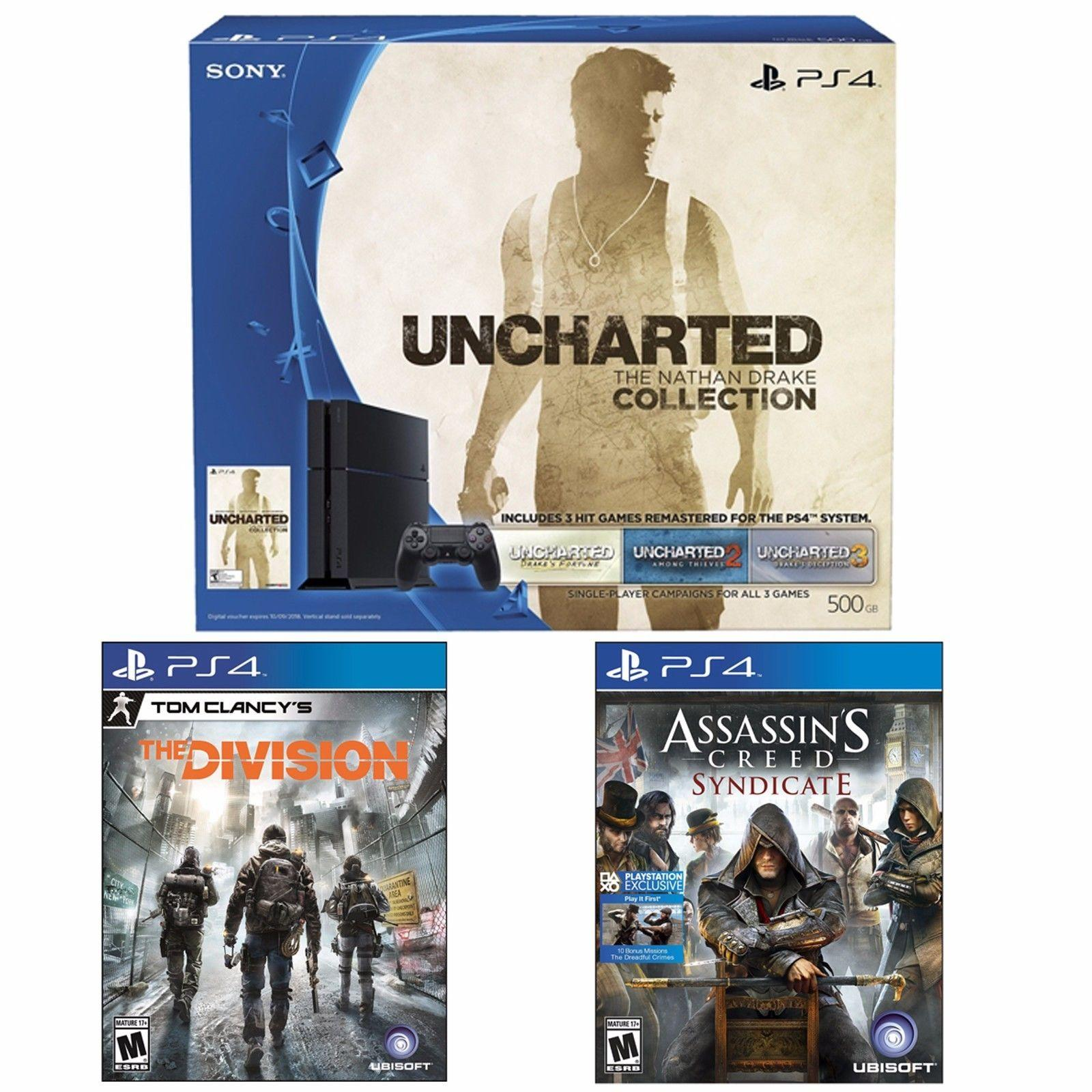 $389 PS4 Uncharted 500GB Bundle + Assassin's Creed Syndicate+ Tom Clancy's Division