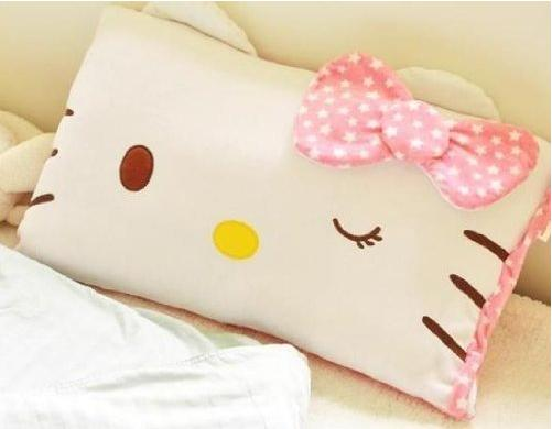 $7.98 Hello Kitty Face Soft Pillowcase Pink