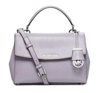 Ava Small Patent Saffiano Leather Crossbody Satchel @ Michael Kors