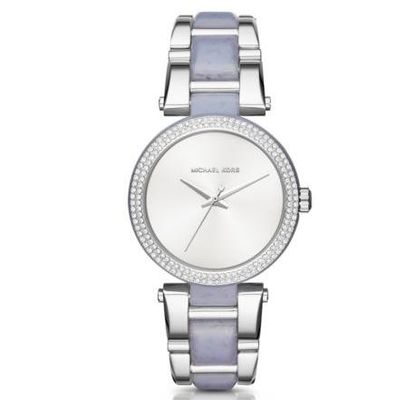 MICHAEL KORS  Delray Pavé Silver-Tone And Acetate Watch @ Michael Kors
