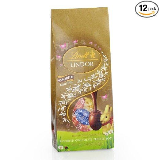 $20.06 Lindor Milk Chocolate, Mini Egg Bag, 4.4 Ounce (Pack of 12)