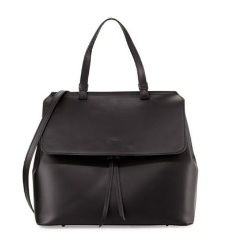 Neiman Marcus Made in Italy  Large Leather Flap-Top Satchel Bag, Black @ LastCall by Neiman Marcus