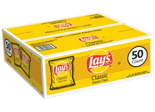 Lay's Classic Potato Chips, 50 Count
